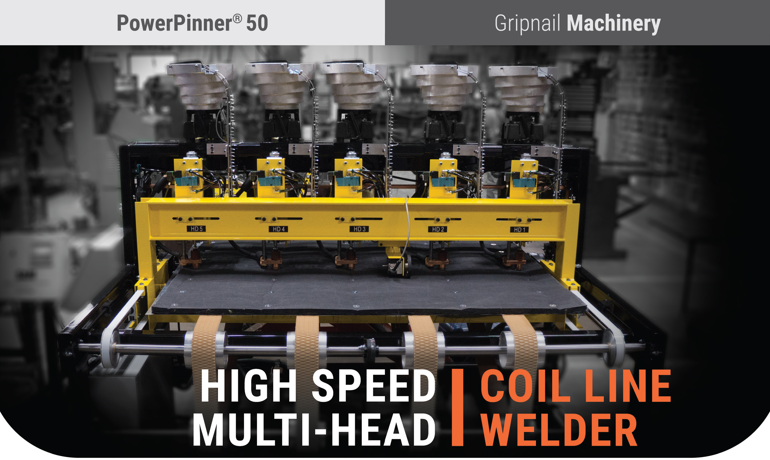 PowerPinner 50 multi head coil line pinner spotter (Main)