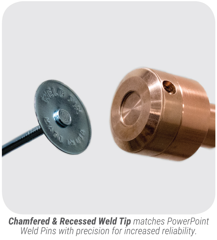 PowerPinner 50 multi head coil line pinner spotter (weld tip)