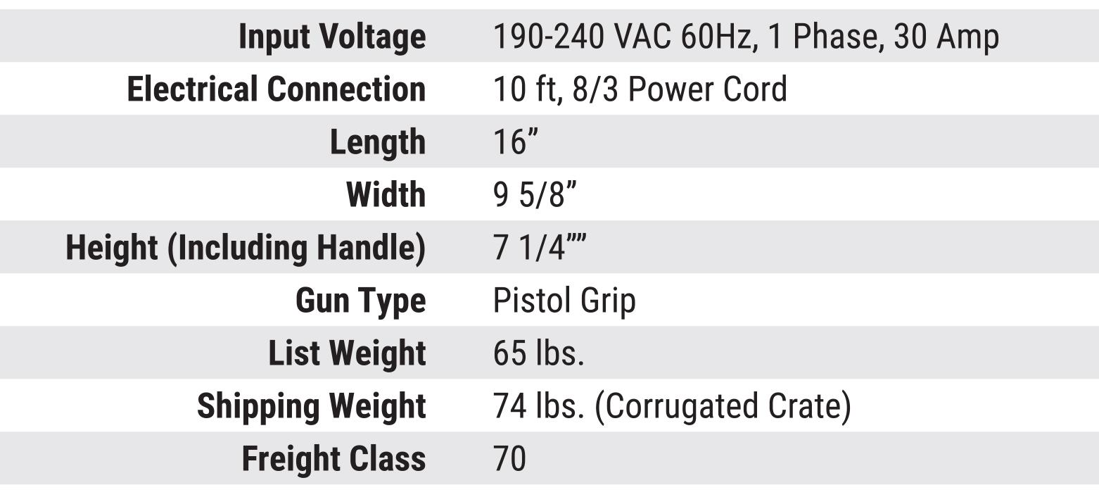 Gripnail PowerPinner 7100 Light Duty Portable Hand Welder (Specs)