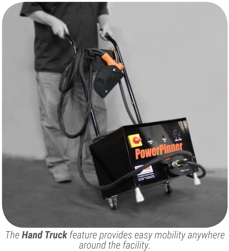 PowerPinner 7200 Heavy Duty Portable Hand Welder (rolling)