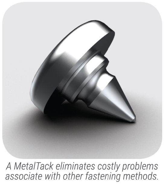 MetalTack - name plate fastener small